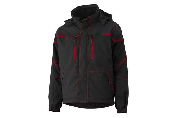 Kiruna werkjas rood/zwart